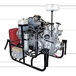 Мотопомпа Гейзер 1600 (МП-600, 800) пожарная повышенной мощности переносная и на тележке